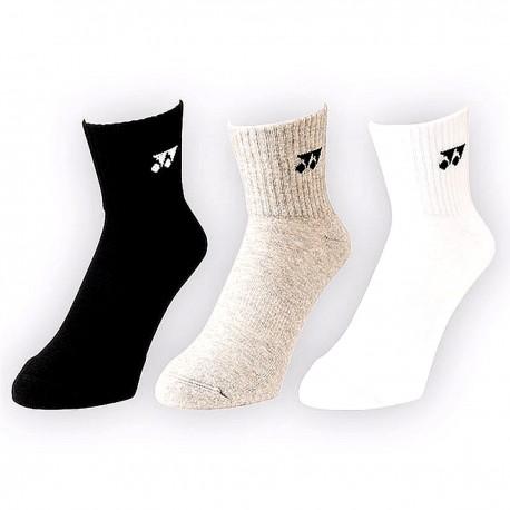YONEX CHAUSSETTES (x3) blanches noires grises